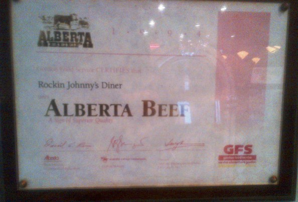 "From 1994: Alberta Beef ""A sign of Superior Quality"""